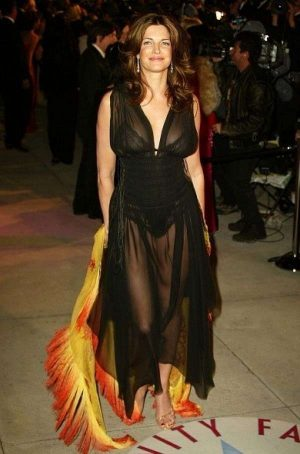 Stephanie Seymour Posing In A See Through Dress