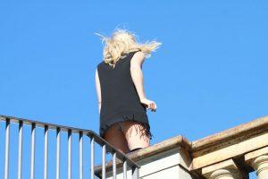 Suki Waterhouse Upskirt on a Photoshoot