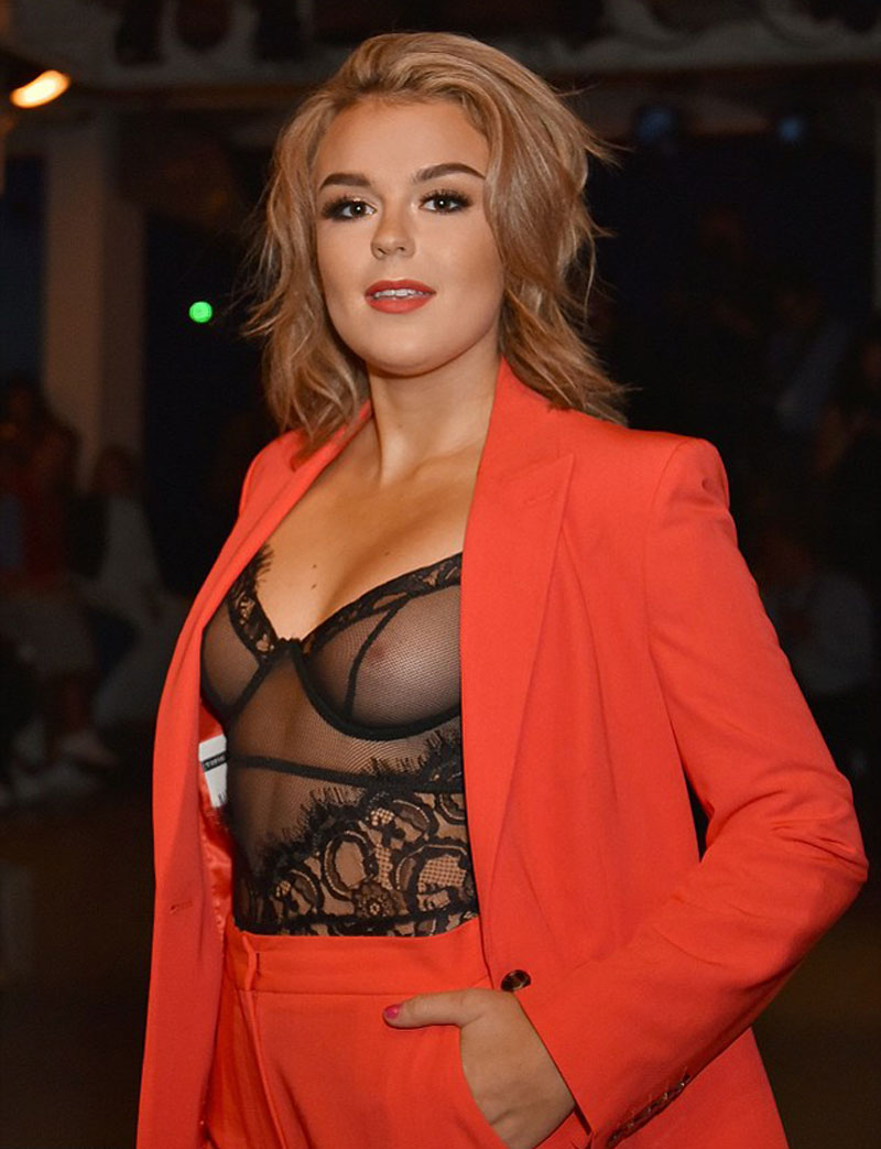 Tallia Storm Nipples in See Through Black Corset