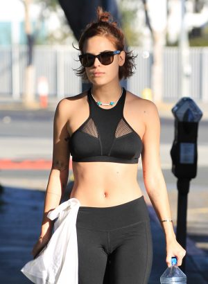 Tallulah Willis Cameltoe on the Street After her Workout