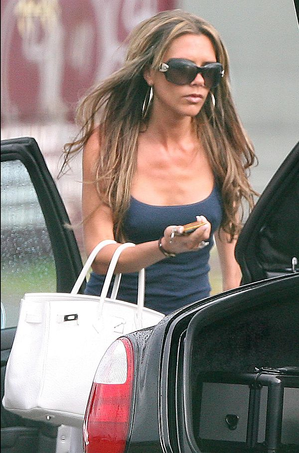 Victoria Beckham Puffies. Thanks To Matt And NEWSPICS For A Taxi Driver Exclusive.