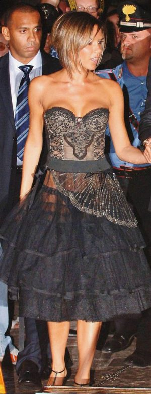 Victoria Beckham See Through Dress Reveals Sexy Black Panties
