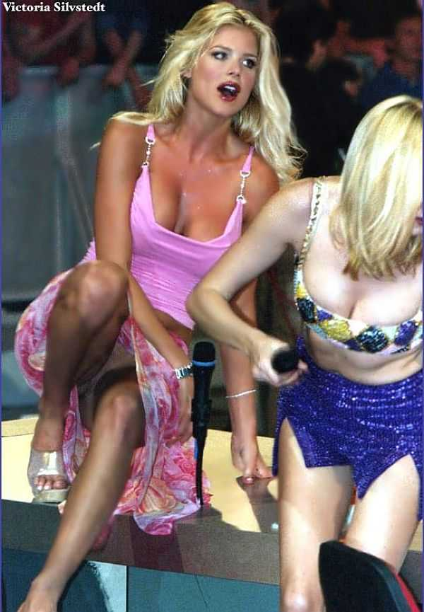 Victoria Silvstedt, No Panties Upkirt, And We Appreciate THAT!
