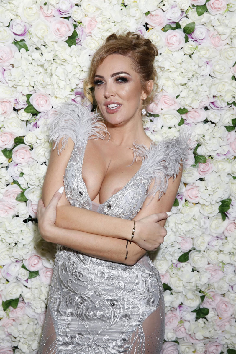 Aisleyne Horgan-Wallace Areola Show in Evening Gown