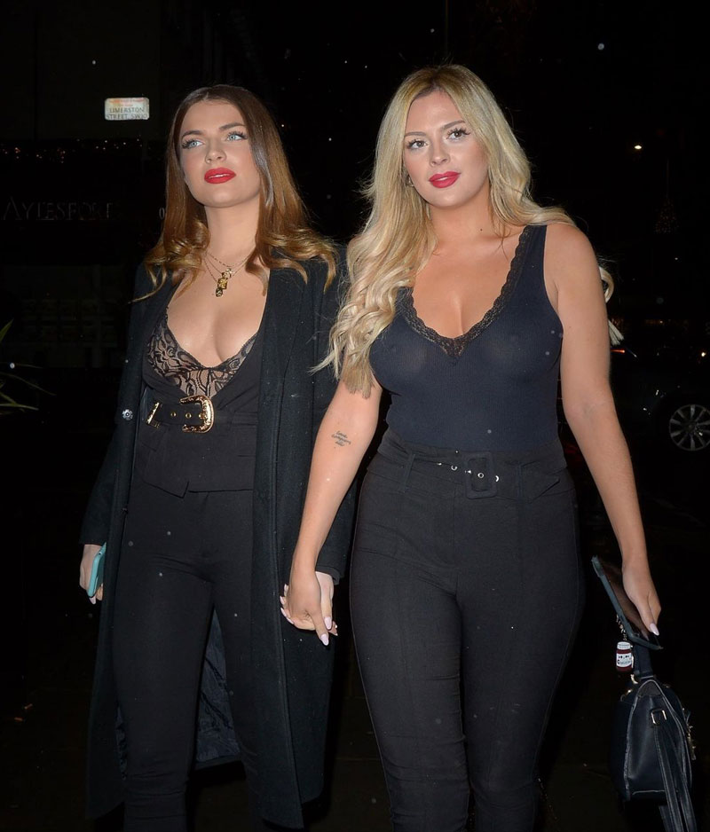 Danielle Sellers Out on the Town in See Through Top