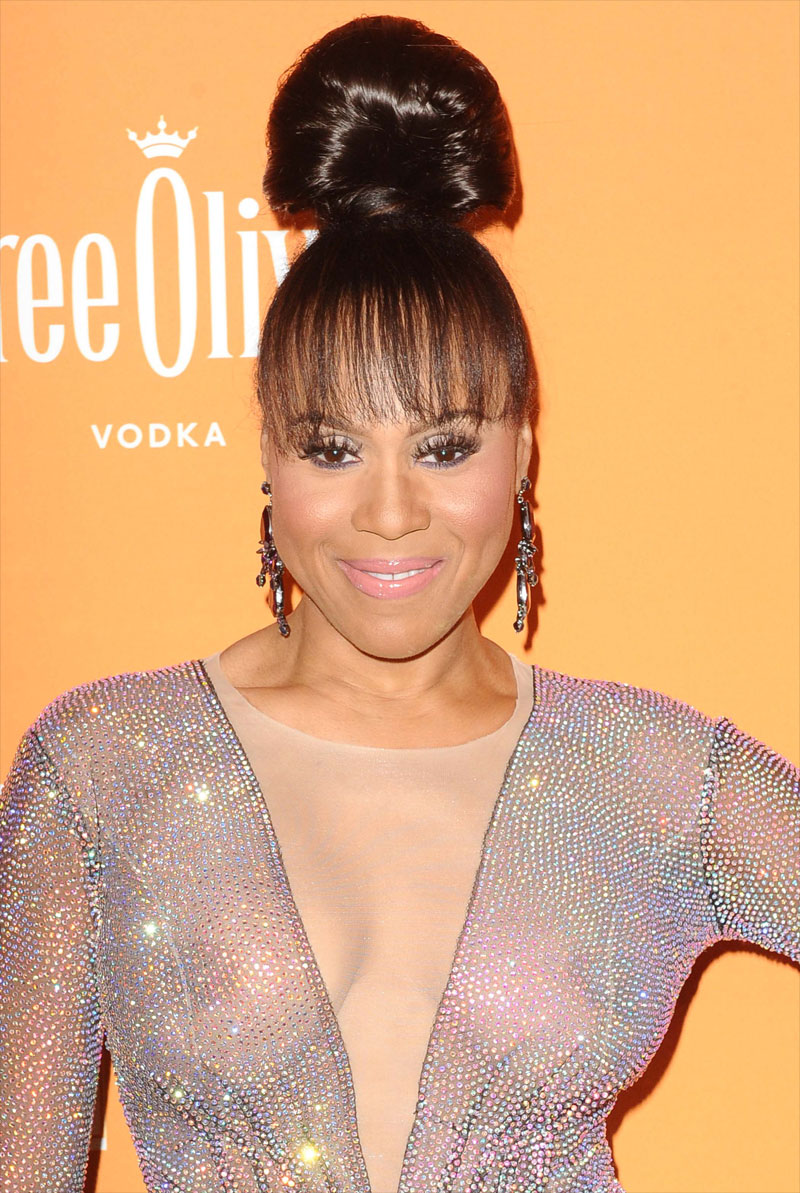 Singer Deborah Cox Shows Off Her Big Breasts in Sheer Gown