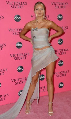 Josie Canseco Pantie Peek at the 2018 Victoria's Secret Viewing Party in NYC