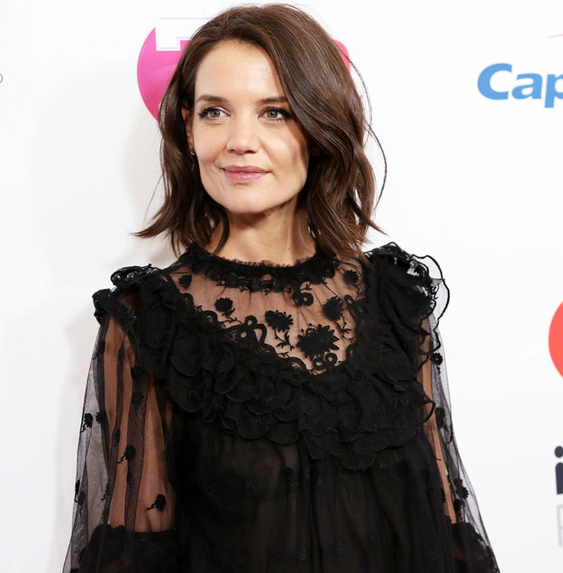 Katie Holmes on the Red Carpet without her Bra