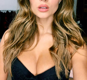 Josephine Skriver Busts Out Her Cleavage