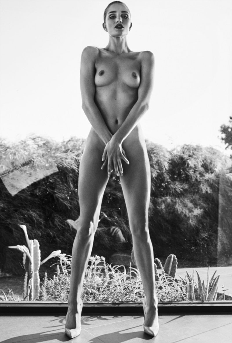 Rosie Huntington-Whiteley Completely Naked for Angels