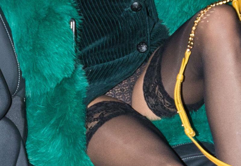 Simone Thompson Black Lace Panty Upskirt