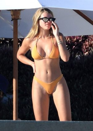 Sofia Richie Showing Off Every Inch She's Got in a Yellow Bikini