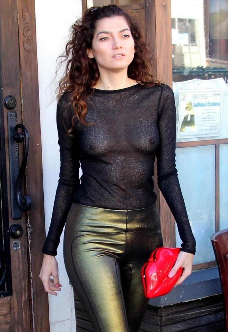 Blanca Blanco Nipples in See-Through Top