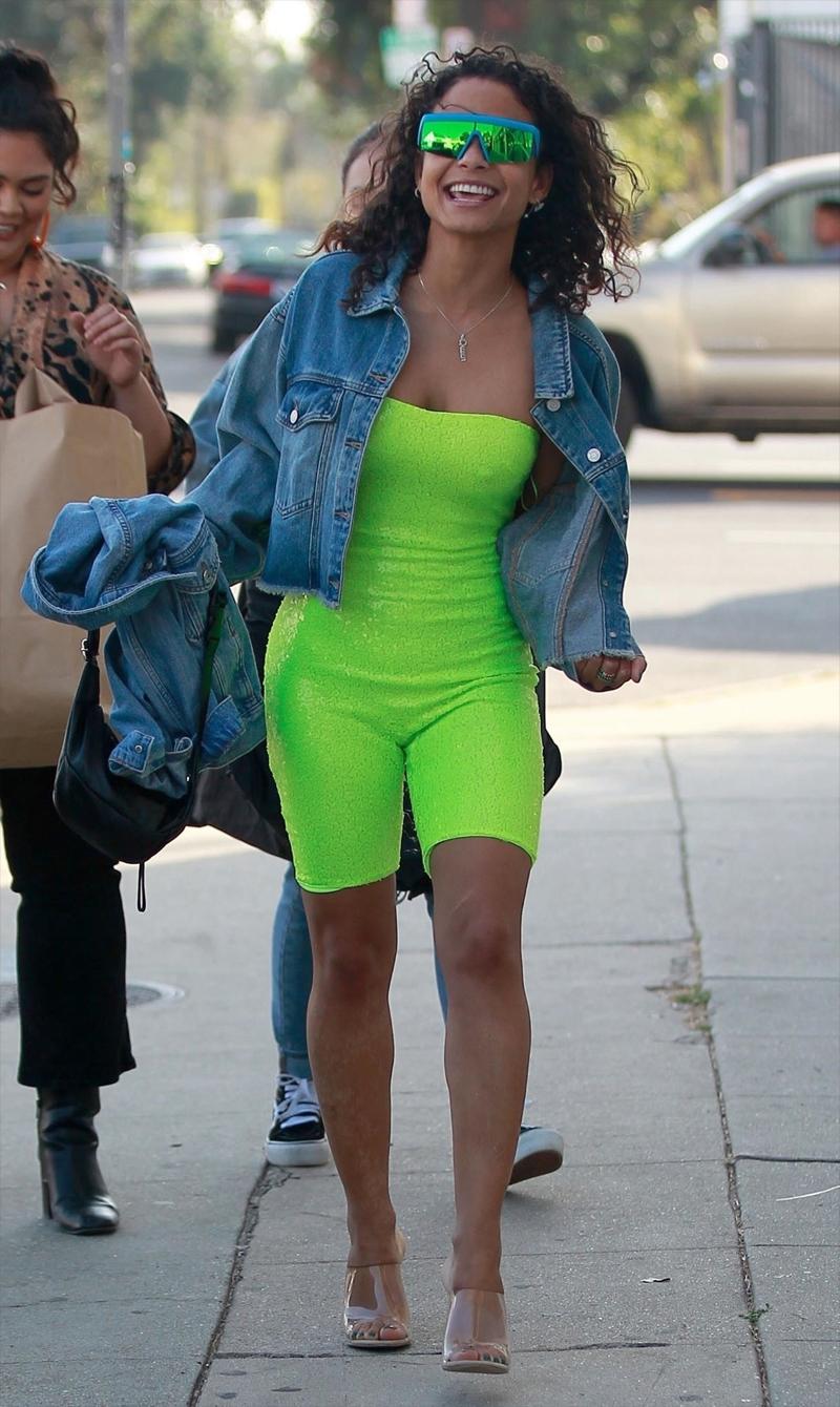 Christina Milian Nipple Pokies on the Streets