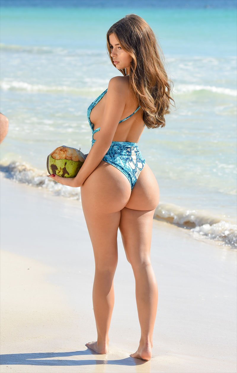 Demi Rose Photoshoot with a Coconut and a Big Ass