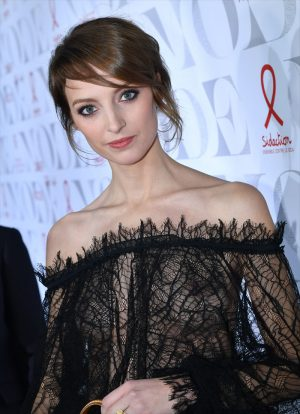 French Beauty Kate Moran Breasts in Lace Dress