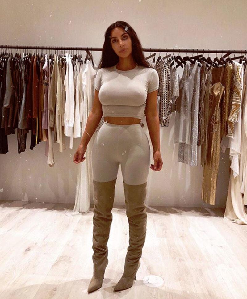 Kim Kardashian Nipple Pokies on her Instagram