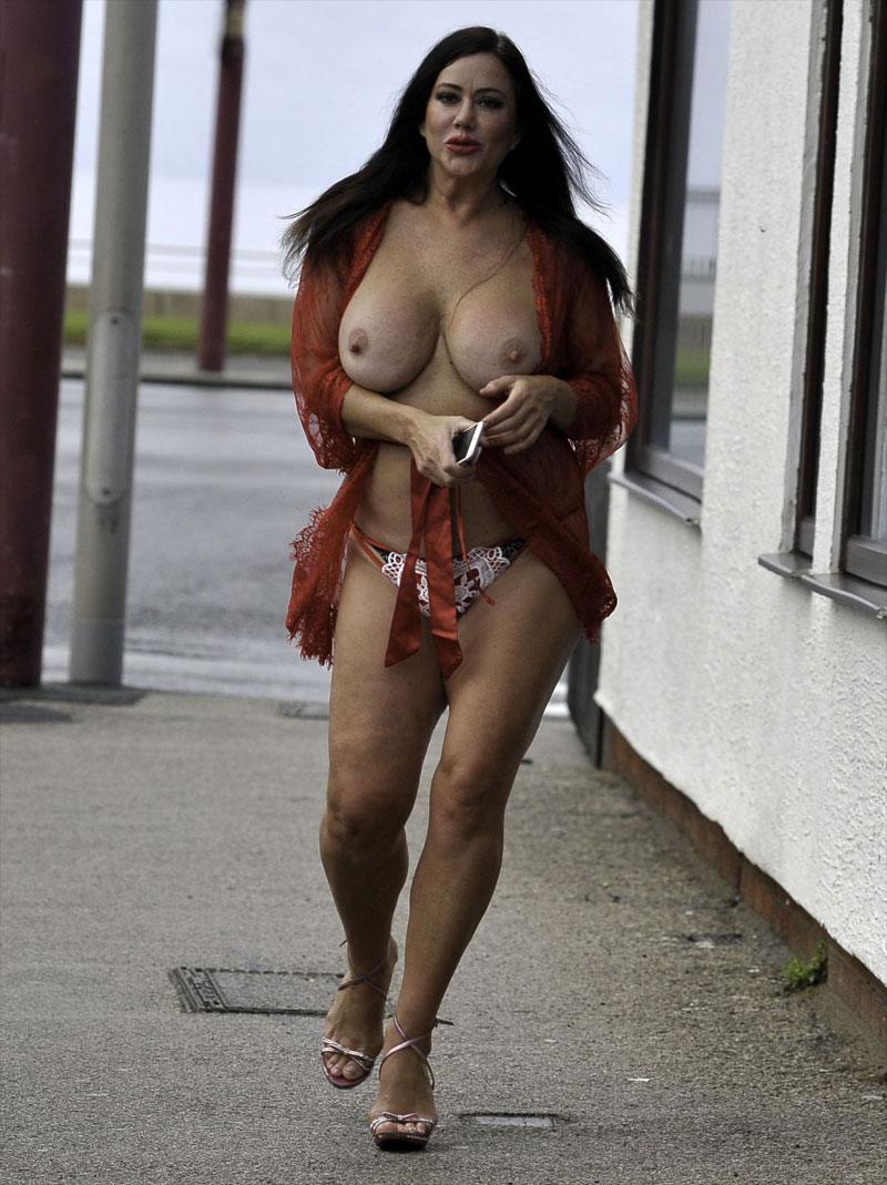 Lisa Appleton Topless Filming Advertisement