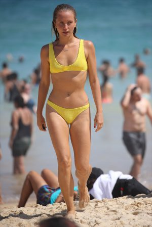 Sailor Brinkley Cook in a Yellow Bikini