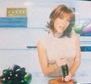 Gillian Anderson Jerking Off a Zucchini