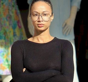Draya Michele in a See Through Sweater
