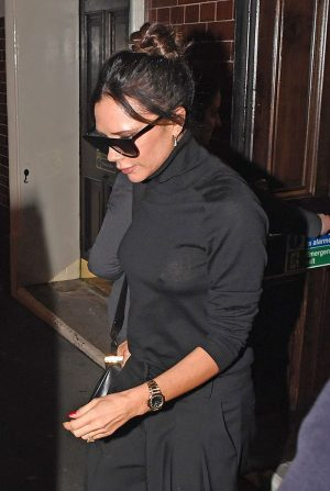 Victoria Beckham Pokies in Black Turtleneck