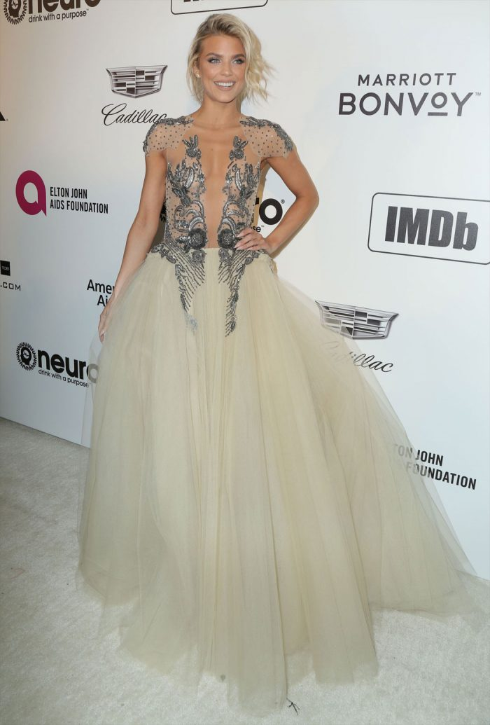 AnnaLynne McCord Braless in Very Fine Evening Gown