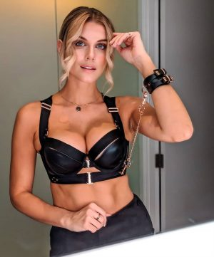Ashley James in a BDSM Inspired Outfit