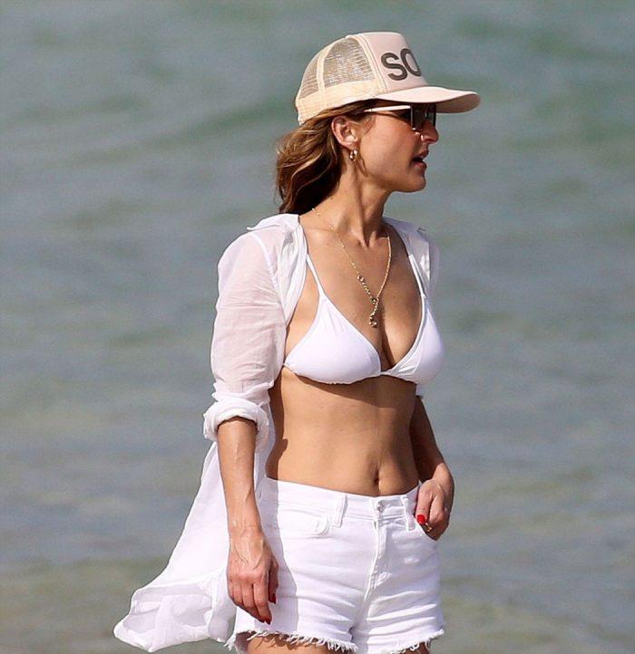 Giada de Laurentiis Milfy Goodness in a White Bikini