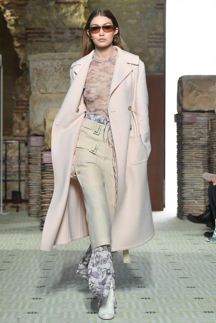 Gigi Hadid Boobies in Sheer Bodysuit Outfit