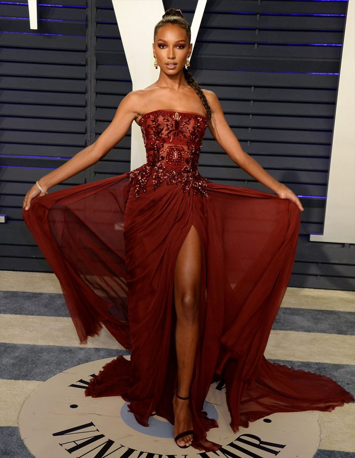 Jasmine Tookes Breasts Revealed at the Vanity Fair Party