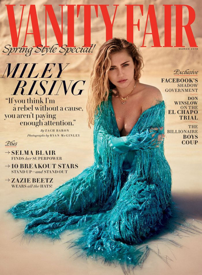 Miley Cyrus Air Brushed Nipples in Vanity Fair