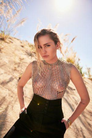 Miley Cyrus Air Brushed Nipples in Vanity Fair