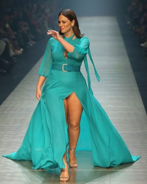 Ashley Graham Panty Peek on the Runway