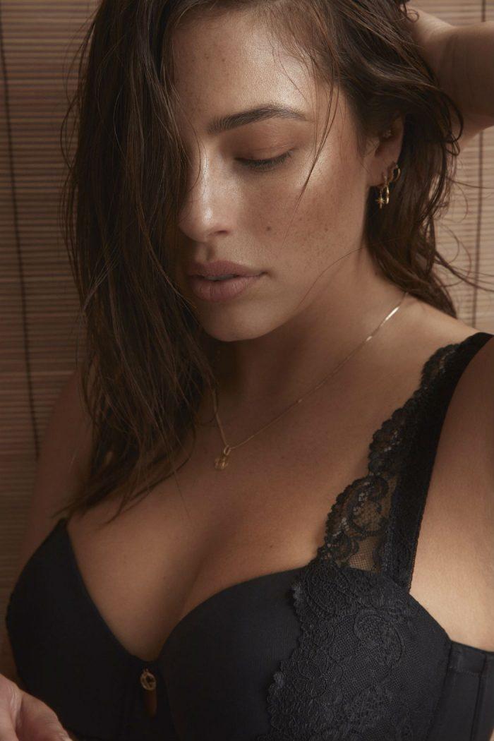 Ashley Graham Black Lingerie Photoshoot