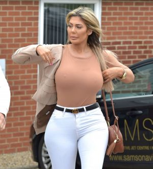 Chloe Ferry Totally Braless Pokies