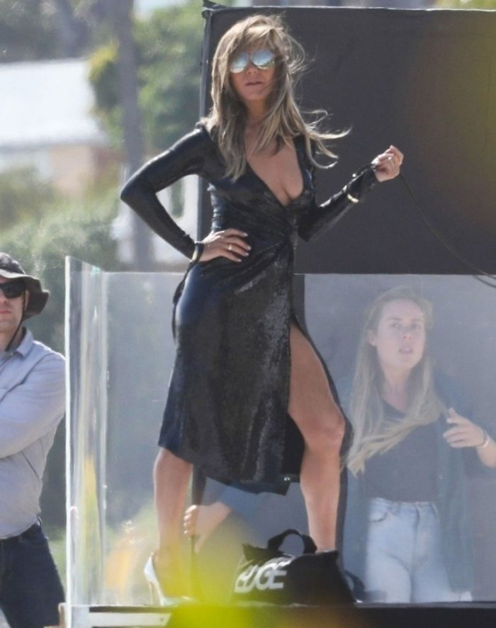 Jennifer Aniston Braless Cleavage on a Photo Shoot