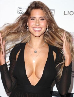 Kara Del Toro Braless & Thong in See-Through Dress