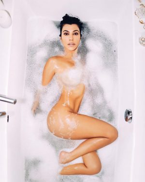 Kourtney Kardashian Naked in the Bubble Bath