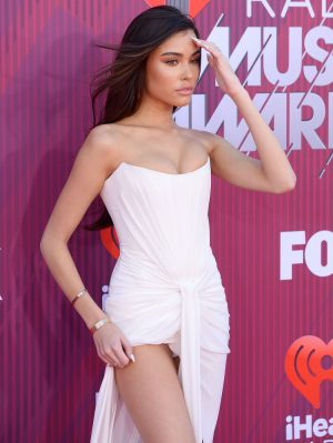 Madison Beer White Pantie Upskirt
