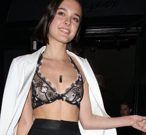 Charlotte Lawrence in a See Through Bra