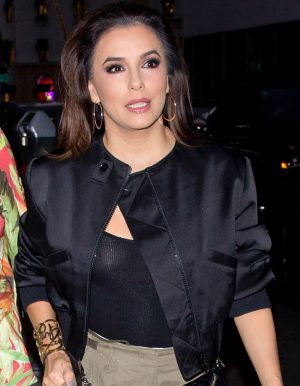 Eva Longoria Nipples in See-Through Top