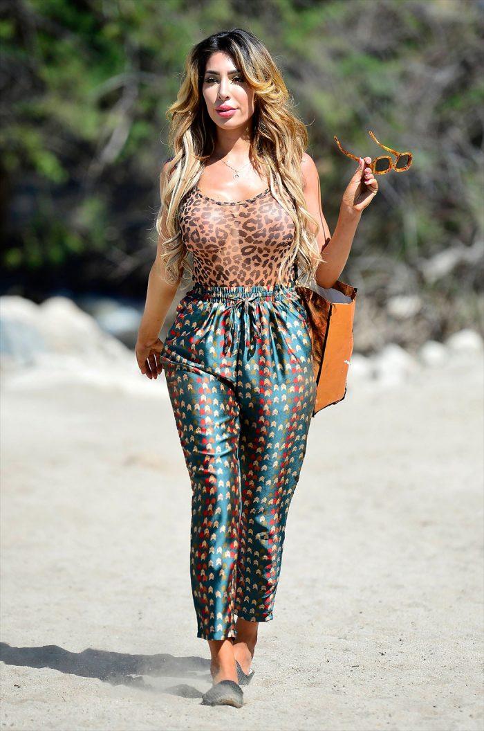 Farrah Abraham in a See-Through Leopard Bodysuit