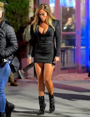 Jennifer Lopez as a Hooker on Set of New Movie