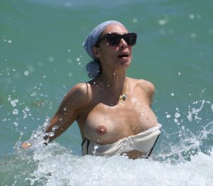 Lilly Becker Loses Her Bikini Top