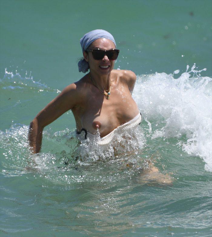 Lilly Becker Loses Her Bikini Top