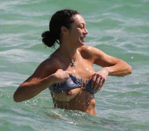 Lilly Becker Loses her Bikini Top in the Ocean… Again.