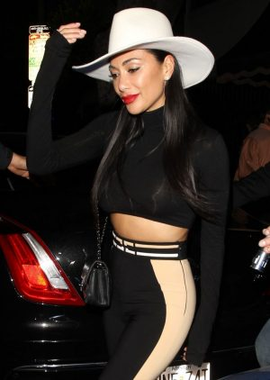 Nicole Scherzinger Parties in See-Through Top