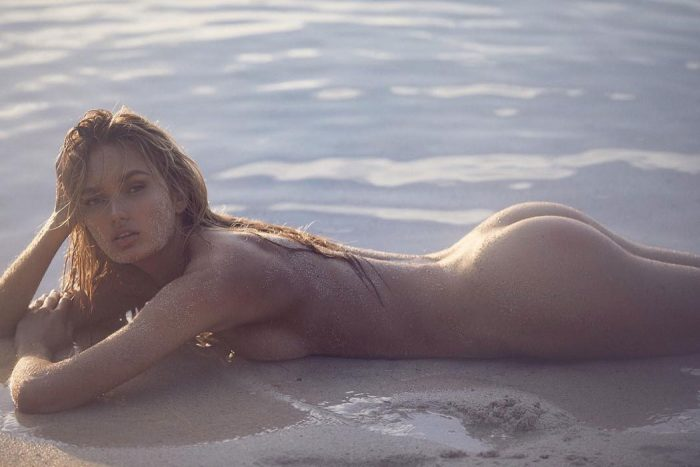 Romee Strijd Naked on the Beach Photo Shoot