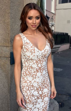 Una Healy in a Totally See Through Dress